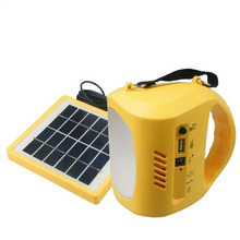 Ambient Weather Compact Emergency Solar Hand Crank FM Radio, Flashlight, Smart Phone Charger with Cables for Camping Fishing