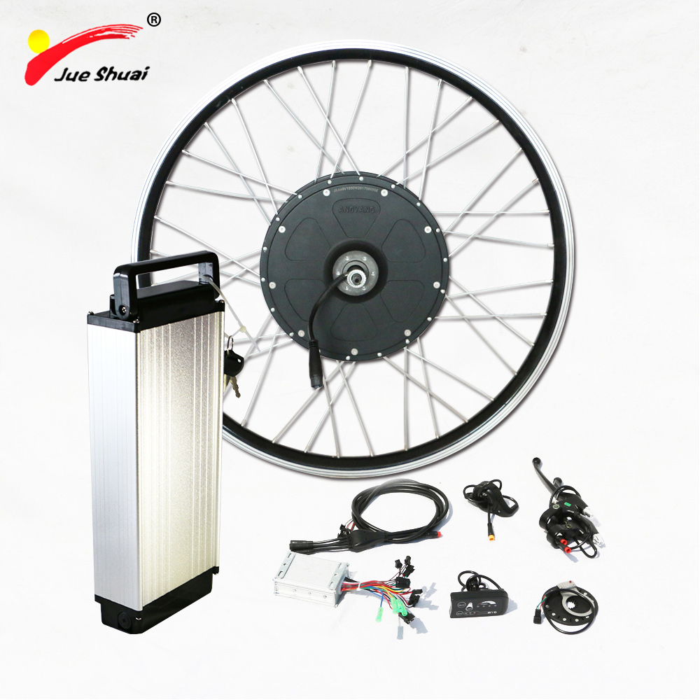 "Electric bike kit 1000w brushless motor with 48v rear rack lithium battery ebike conversion kit fix for 26"" 700c motor wheel(China)"