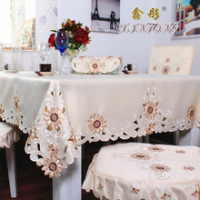 XT10428 European Garden luxury tablecloth embroidered table cloth table towel chair cover table runner home textile decoration