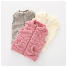 2016 Autumn  Winter New Pattern Korean Children's Garment Girl Baby Solid Color Baby  Warm Vest Autumn Vest Waistcoat