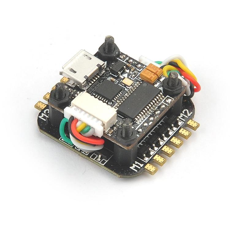 Super_S F4 Flight Controller Board built-in Betaflight OSD Blheli_S 4in1 ESC 2S for Indoor Brushless FPV DIY Racing Drone F21370<br>
