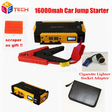 Best Car Jump Starter 16000mah Mini Emergency Charger Battery Booster Car Emergency Power Bank Car Starter forCar/Motorcycle