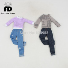 for 1/6 30cm icy blyth doll jecci five bjd neo Casual wear jeans toy gift