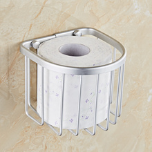 Preferential space aluminum bathroom toilet paper holder toilet roll paper towel sanitary napkin storage bathroom accessories(China)