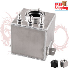 FREE SHIPPING 2L Aluminium Oil Catch Tank/Fuel Cell/Fuel Tank with AN6