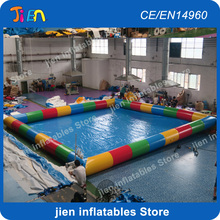 free shipping! 8x8m large inflatable pool inflatable swimming pool inflatable water pool for water toys inflatable toys pool