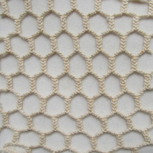 1Y Honeycomb grid 100% Cotton Net fabric French Classic Braided Knitted Mesh Fabric Fashion Patchwork Sewing Fabric