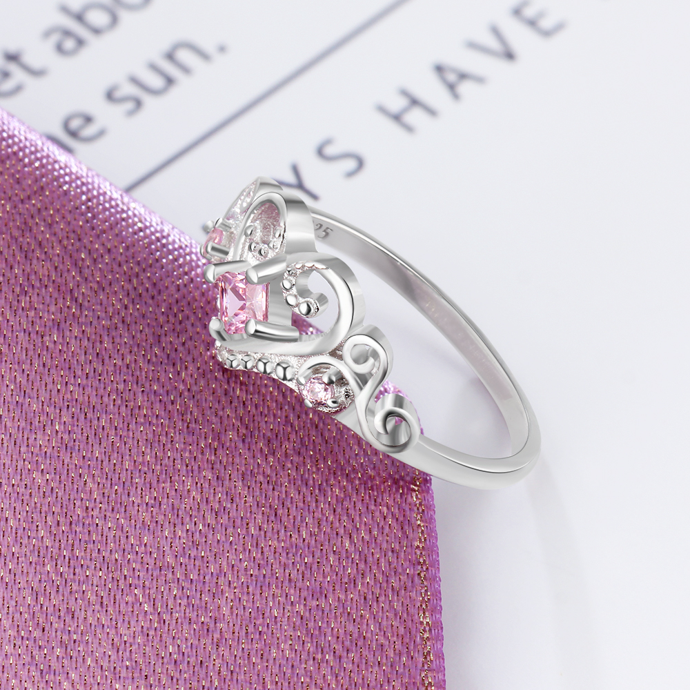 Beautiful Heart Crown Ring
