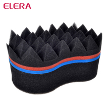 ELERA Double Sides Magic Twist Hair Sponge Brush,adds texture to hair styling tools hair coil curler afro braid,hair wave coil(China)