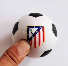 "6.3cm(2.25"")  Atletico Madrid  football team souvenir  football stress ball,Atletico Madrid soccer  ball toy ,4pcs/lot"