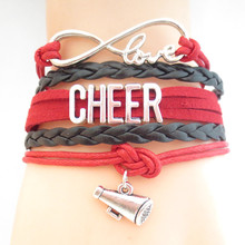 Infinity Love CHEER baseball Team Bracelet Customize Wristband friendship Bracelets B09185(China)