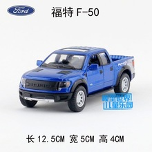 Candice guo alloy car model FORD F-50 Pickup truck plastic motor pull back home collection toy birthday gift christmas present(China)