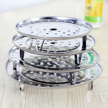 4pcs/lot New Creative Qualified Stainless Steel Steaming Steamer Rack