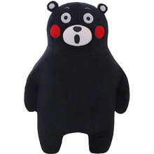 2016 New Arrival 50cm Cute Smile Laugh kumamon Bear Plush Toys Japan Style Black Bear Stuffed Doll Pillow cushion Kids Toy(China)