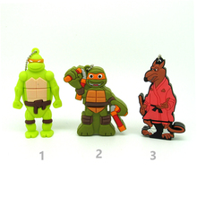 new Teenage Mutant Ninja Turtles usb flash drive disk memory stick Pen drive real capacity pendrive 4g 8gb 16gb 32gb metal chain(China)