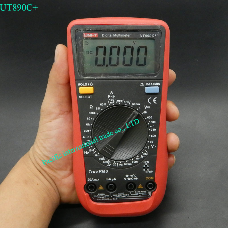 UNI-T UT890C+ True RMS digital multimeter with backlight AC/DC frequency multimeter Ammeter Multitester Free Shipping<br><br>Aliexpress