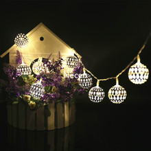 Golden ball warm white 2M 20balls/set  LED String for Xmas Garland Party Wedding  Christmas Flasher Fairy Lights 3A battery