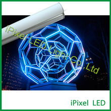 Amusement lighting meteor vertical dmx led tube light(China)