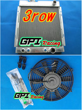 3 ROW Aluminum Radiator for Ford MUSTANG V8 289 302 WINDSOR 1964 1965 1966 + Fan(China)