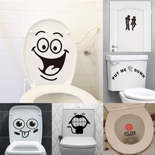big mouth smile face toilet stickers wall decorations diy vinyl home decals mual art waterproof posters 342.