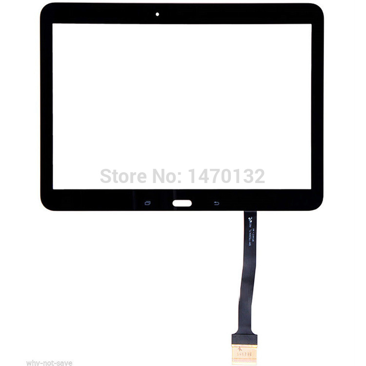 Black Part Front Outer Glass For Samsung Galaxy Tab 4 10.1 SM-T530 T531 Touch Screen Digitizer<br><br>Aliexpress