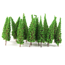 50pcs 1:100 Pagoda Trees Model Landscape Tree Train Railroad Layout Garden Scenery Miniature Scene Wargame Landscape Handcrafted