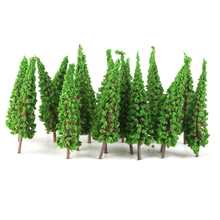 50pcs 1:100 Pagoda Trees Model Landscape Tree Train Railroad Layout Garden Scenery Miniature Scene Wargame Landscape Handcrafted(China)