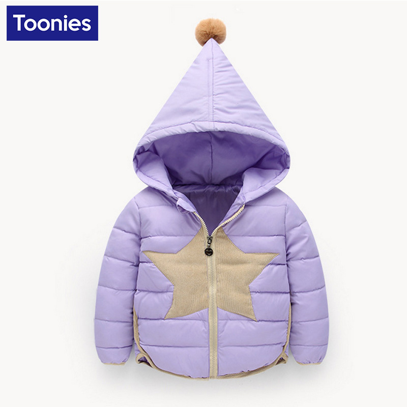 Down Jacket Coat 2017 Winter Hooded Warm Fashion Casual Active Comfortable Down Jacket Overcoat With Star Pattern for ChildrenОдежда и ак�е��уары<br><br><br>Aliexpress