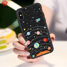 ASINA Silicone Cartoon Case For iPhone X Case Cute Original Drawings Ultra Thin 3D Relief For iPhoneX Case Cover Silicone Bumper(China)