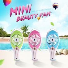 Portable Air Conditioner Mini Fan Cooling USB Air Cooler Battery Powered Fan Spray Water Humidifier For Laptop Computer(China)