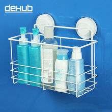 Korea DeHUB Super Suction Cup Shelf Stainless Steel Bathroom Rack Moistureproof Waterproof Bath Dew Is Received
