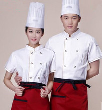 brief chef uniform short sleeve chef clothes kitchen chef uniform white chef wear uniforms