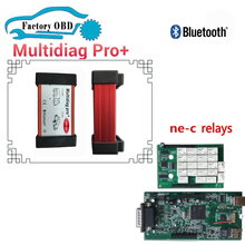 8pcs DHL free nec relays Green PCB with Bluetooth cdp pro 2015R3 keygen with install video OBD2 diagnostic tool Multidiag pro+