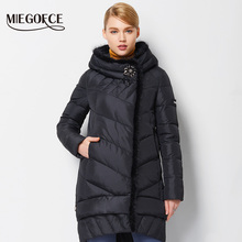 MIEGOFCE 2016 New Winter Women Coat Jacket Medium Length Warm High Quality Woman Down Parka Winter Coat with Sable Fur(China)