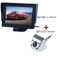 Promotion 4.3 inch HD  800*480 Rear View Mirror Monitor+ SONY CCD Car rear view camera for all cars waterproof night version