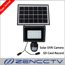 Solar Lamp 720P Mini DVR Camera with 8GB SD Card 40pcs LED Floodlight PIR Motion Detection Recording Video HD CCTV Security