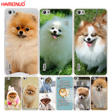 HAMEINUO cute dogs perro pomeranian puppy phone Cover Case for huawei honor 3C 4A 4X 4C 5X 6 7 8 Y3 Y5 Y6 2 II Y560 Y7 2017(China)