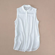 Original Brand Cotton Thin Sleeveless Dot Women Blouse Fashion Good Quality And Cheap Blouses For Women Elegant Lady Shirt CT793