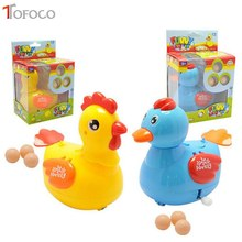TOFOCO Fun Chicken Toys Trick Hen Lay Egg Clockwork Chicken and Duck Interesting Educational Toys For Family Interactivation(China)