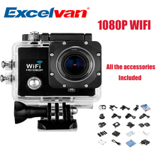 Excelvan Q5 Sports Camera 2.0 Inch 30M Waterproof 12MP 1080P Full HD Wi-Fi 170 degree angle view Anti-shake Action camera