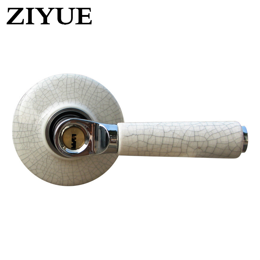free shipping Lock Handle  Lock Cylinder Type Ceramic Handle Lock Door Lock Indoor Bathroom Door<br>
