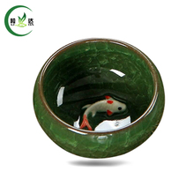 Buy 1 Pc Green Ice-Crackle Porcelain Tea Cup Fish Pattern Ceramic Green Tea Cup 30ml for $5.99 in AliExpress store
