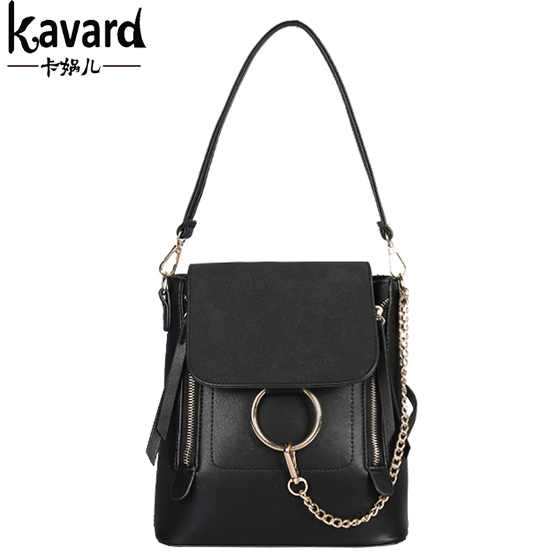 KAVARD Women Shoulder Bag Design Famous Brands High Quality Matte pu Leather Handbag With Ring Chain Small Female Daily Clutches<br><br>Aliexpress