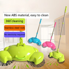 Household cleaning New Arrival 1PC 360 Rotary Home Use Plastic Crab Manual Telescopic Floor Dust Sweeper With packaging(China)