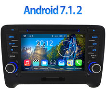 "3G 4G WIFI 7"" Android 7.1.2 2GB RAM DAB+ RDS BT Car DVD Radio Player Stereo for Audi TT 2006-2014 GPS Navigation Support SWC(China)"