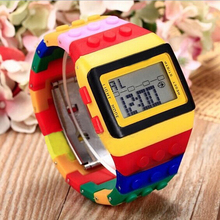 Electronic Colorful LED Rainbow digital watches digital wrist watch children boys girls Wristwatches Sports children's watches