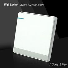 Large Panel acme elegant white Wall Switch 1 Gang Double Control Switch Simple and Fashion Decoration Switch 86mm*86mm(China)
