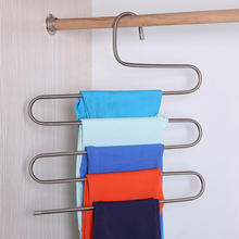 Best 5 Layers Trousers Hanger Pants Clothes Holder Rack S Shape Multi-Purpose For Tie Organizer Storage Hanger