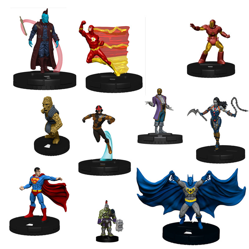 ACTION FIGURES DC MARVEL Mini 5-6cm Tall Characters Superhero Batman Heroclix
