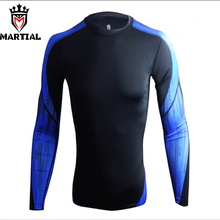 Martial Official Store fitness mma rashguards printed jersey rashguard compression shirts for MMA / Bjj/CrossFit/Combat /Boxing(China)